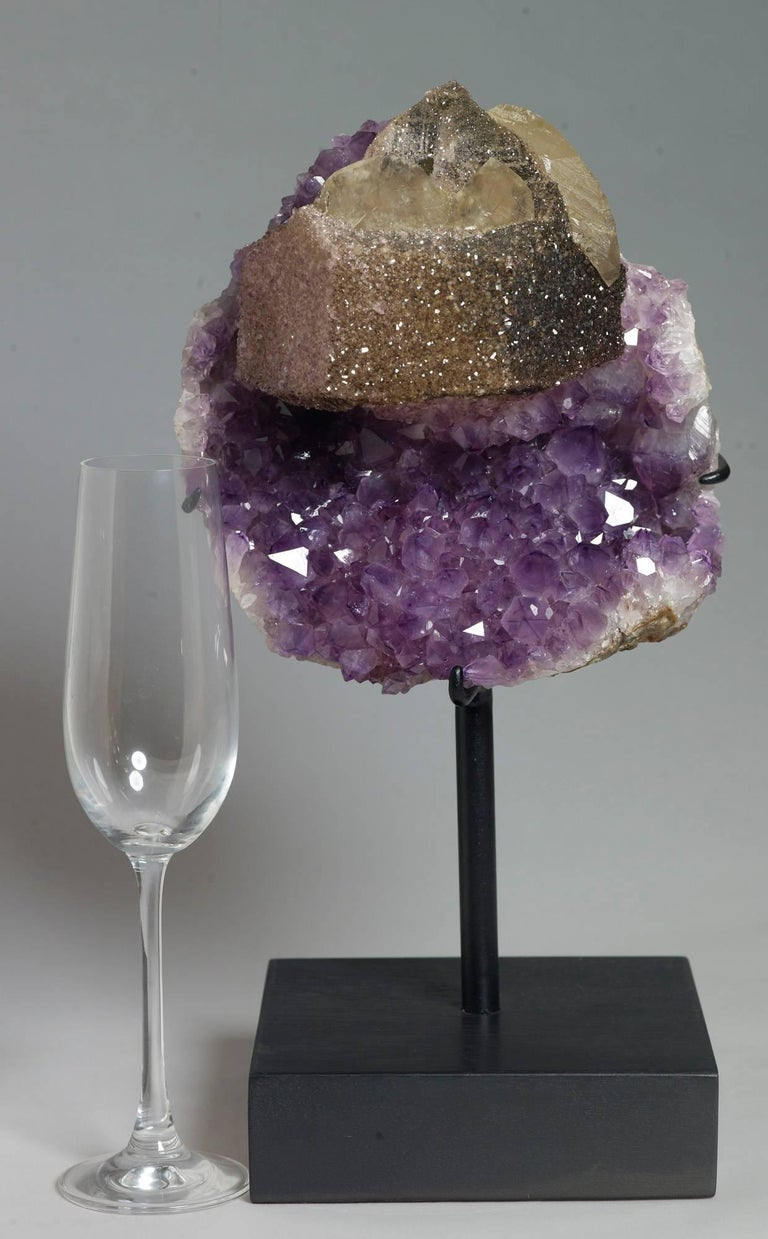 Uruguayan Calcite and Amethyst Crystals For Sale