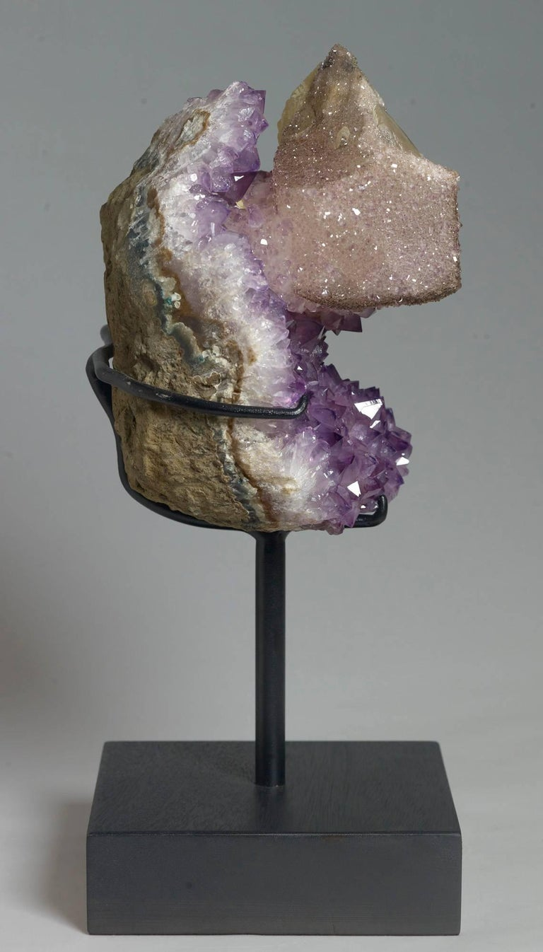 18th Century and Earlier Calcite and Amethyst Crystals For Sale