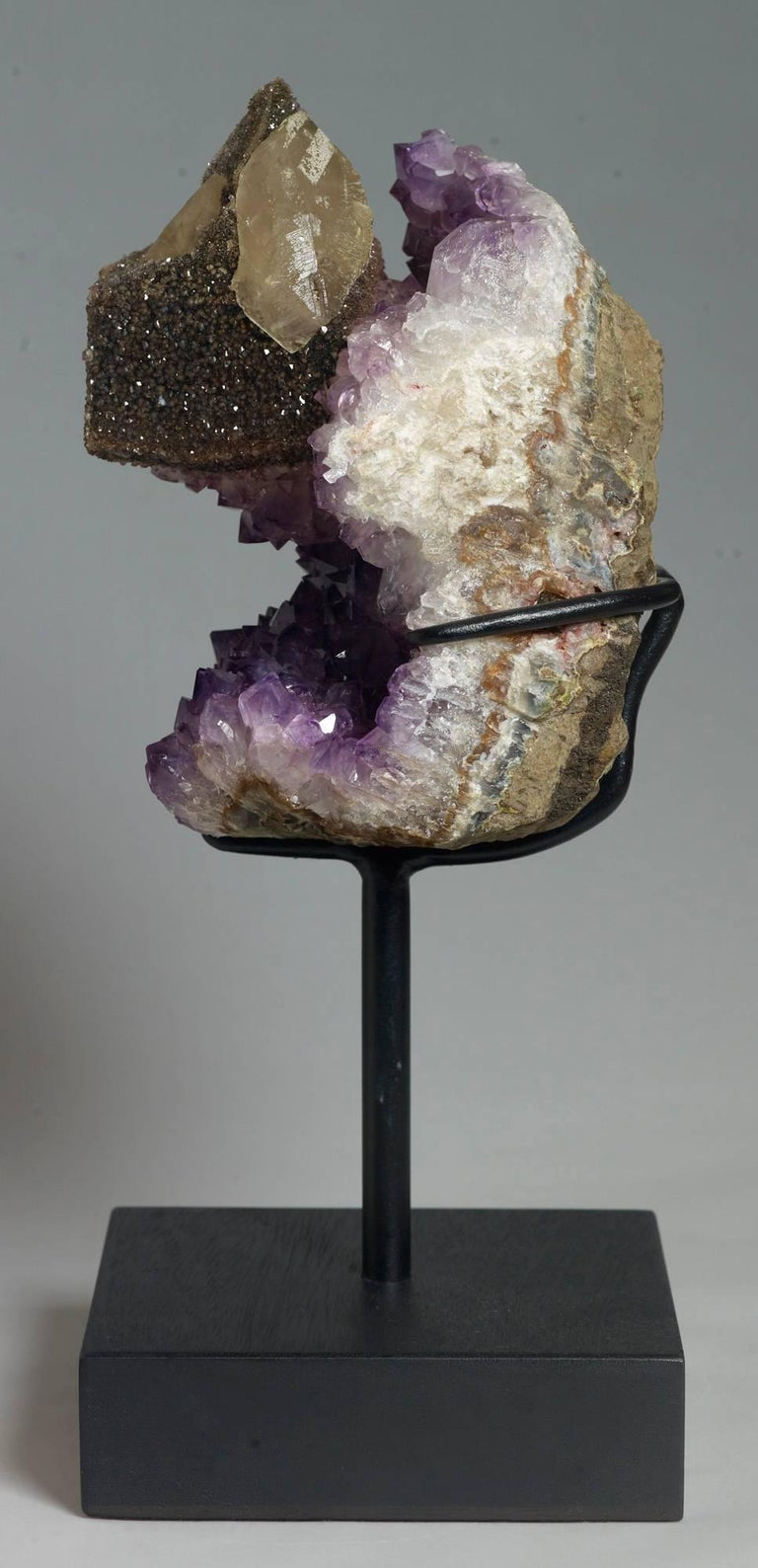Calcite and Amethyst Crystals For Sale 2