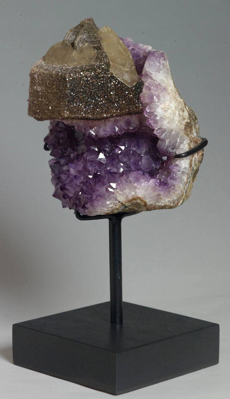 Calcite and Amethyst Crystals For Sale 3