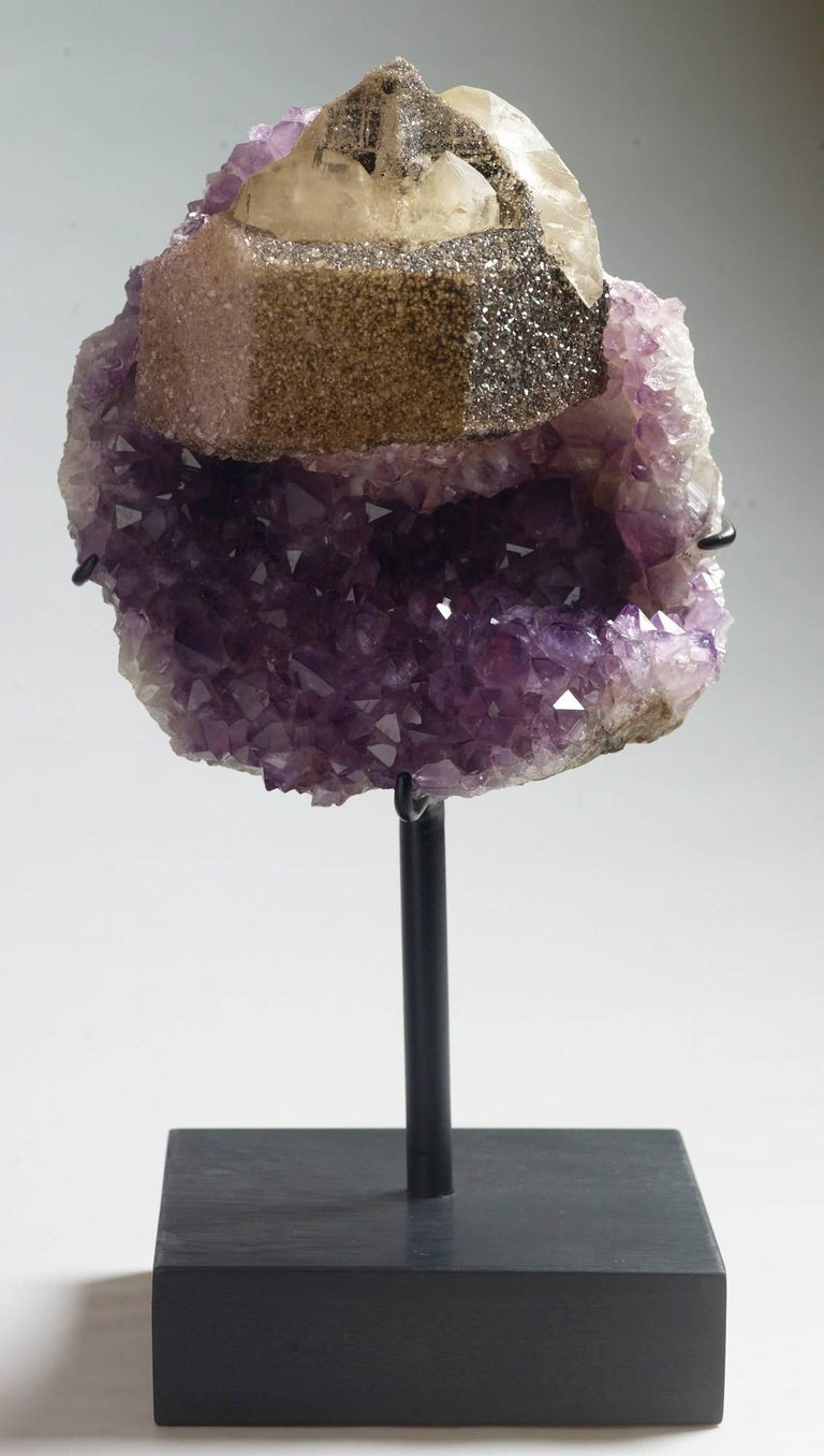 Calcite and Amethyst Crystals For Sale 4