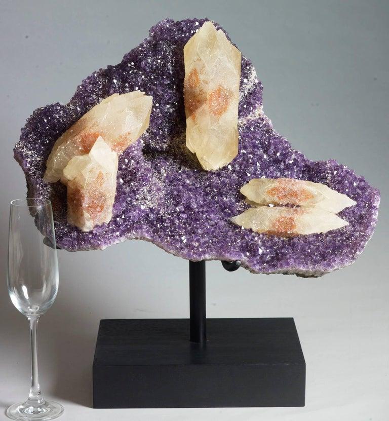 Brazilian Calcite, Quartz and Amethyst Crystals For Sale