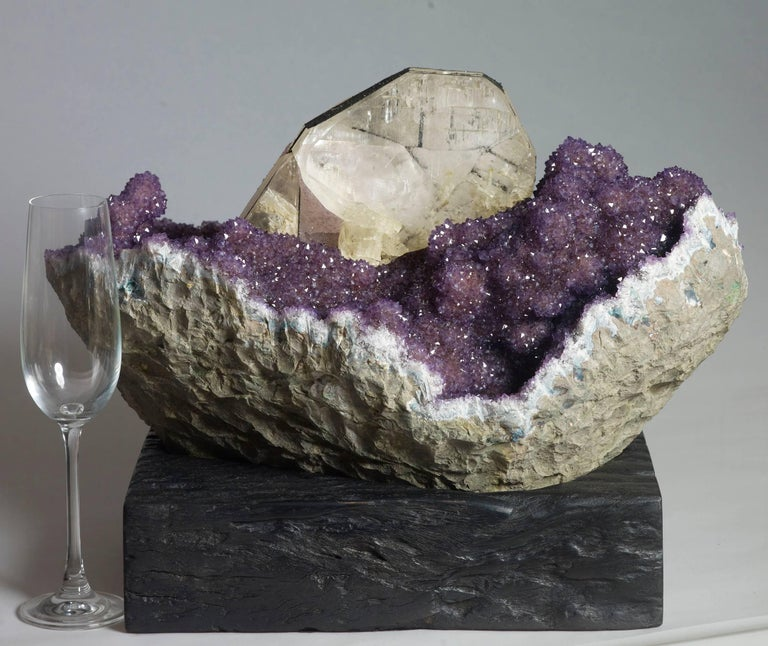 Amethyst and Calcite