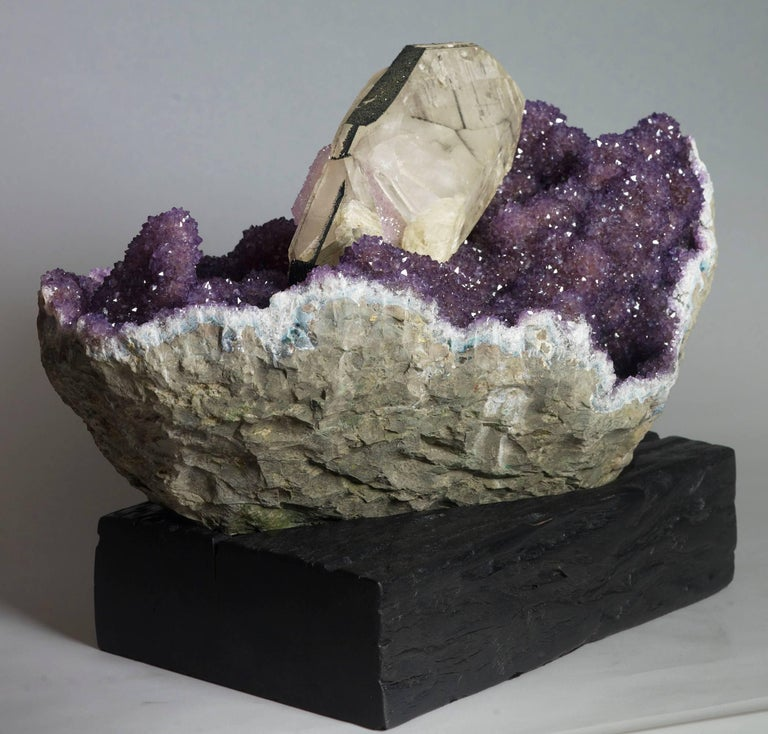 18th Century and Earlier Amethyst and Calcite