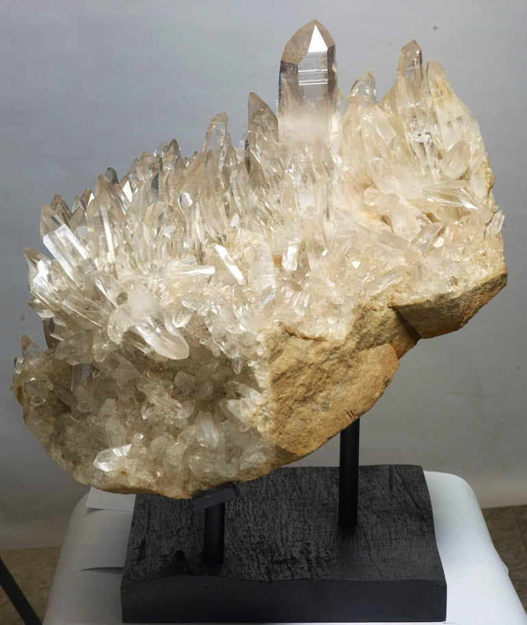 Amazing Cluster of Clear Quartz Crystals For Sale at 1stdibs Quartz Crystals For Sale