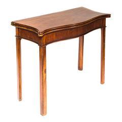 Fine 18th Century English Mahogany Side Table, c. 1775