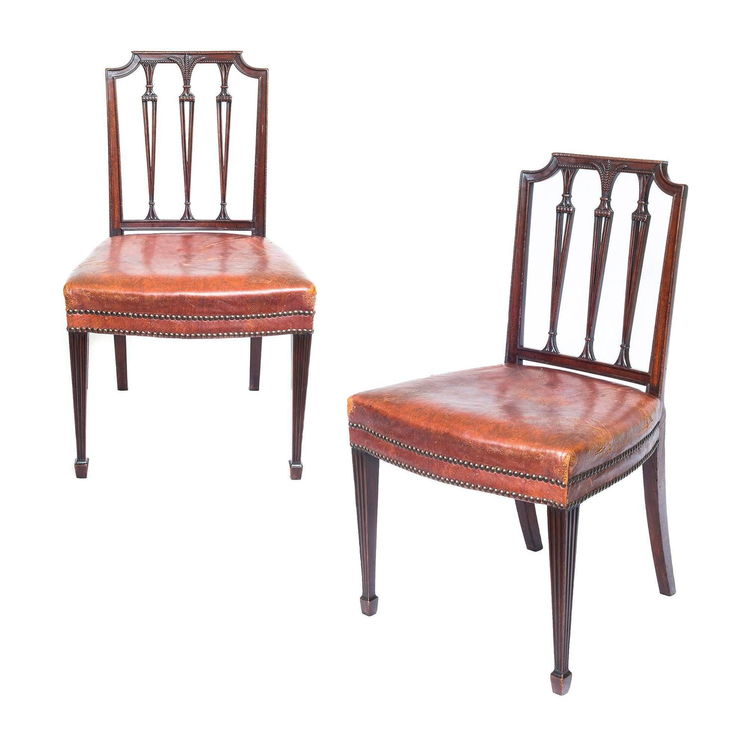 Superb Set Of Six 19th Century Neoclassical Style Chairs At 1stdibs