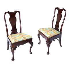 George II Period Cuban Mahogany 'Queen Anne' Side Chairs