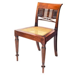 Antique 19th Century Regency Period Anglo-Indian Colonial Padouk Side Chair