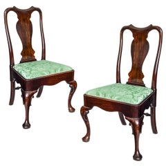 English 18th Century Pair of Georgian Cabriole Leg Chairs