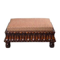 Large Regency Footstool Ottoman or Coffee Table