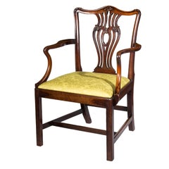 18th Century George III Mahogany Desk Chair