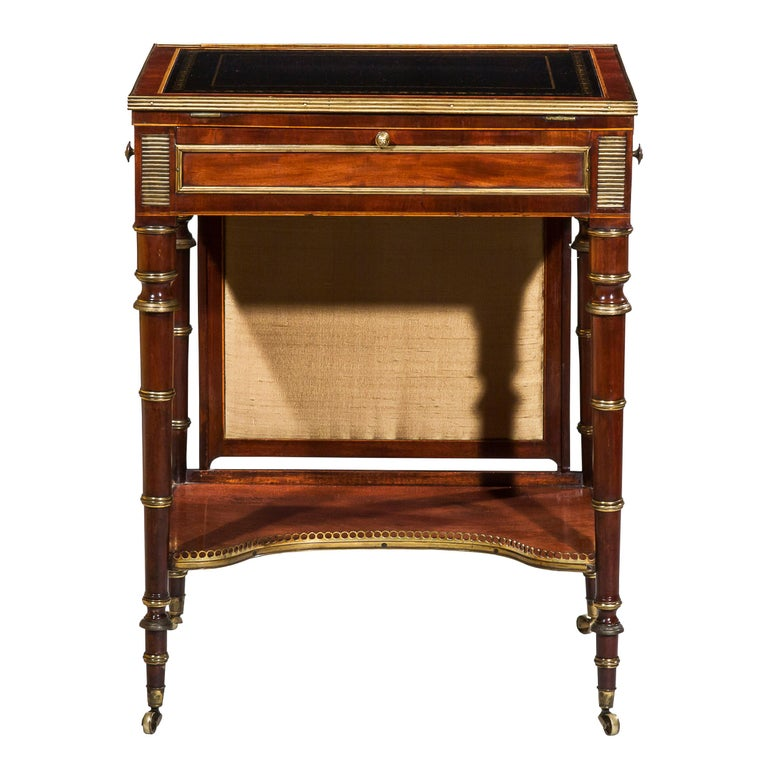 small writing table. English Regency Writing Table Or Small Desk Attributed To John Mclean For Sale O