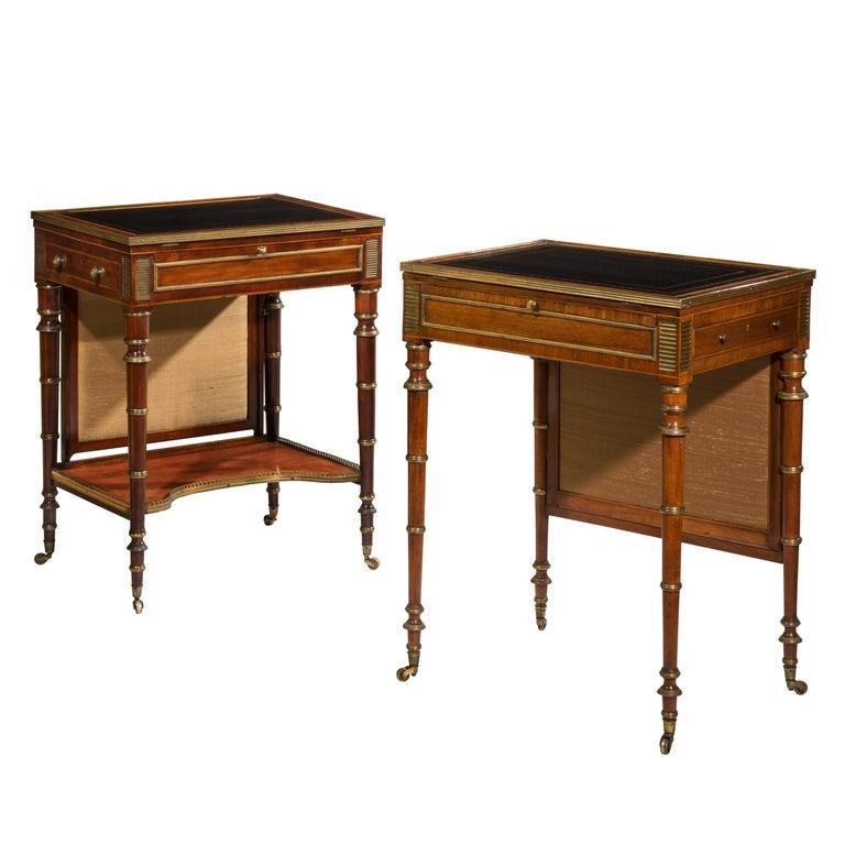 Near Pair of Regency Writing Tables by John McLean