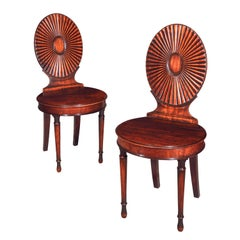 18th Century English Neoclassical Pair of Chairs, circa 1780
