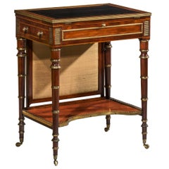 English Regency Small Table or Desk Attributed to John Mclean