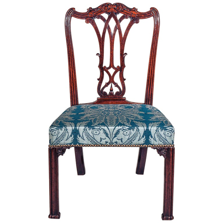 18th Century Georgian Chippendale Bedroom Chair or Side Chair For Sale