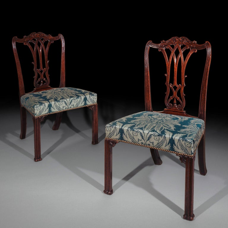 Georgian Chippendale Bedroom Chair or Side Chair For Sale 1