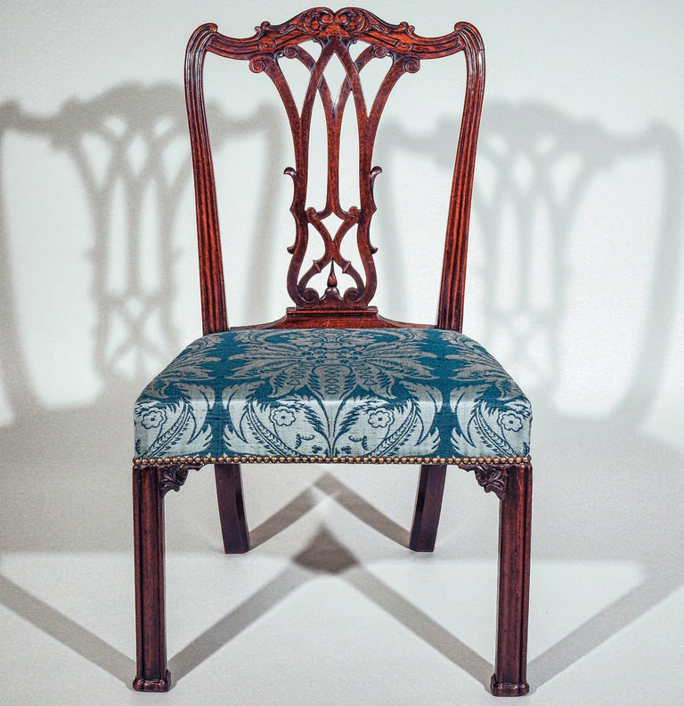 Georgian Chippendale Bedroom Chair or Side Chair In Good Condition For Sale In London, GB