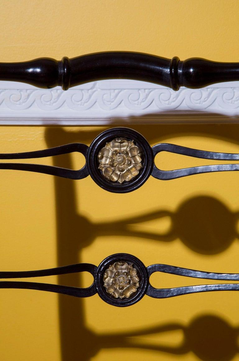 Six Regency Ebonized Klismos Dining Chairs For Sale 5