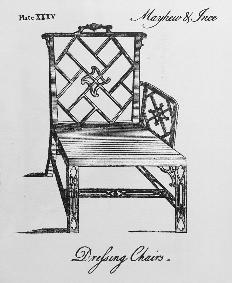18th Century Chinese Chippendale Cockpen Armchair Desk Chair In Good Condition For Sale In London, GB