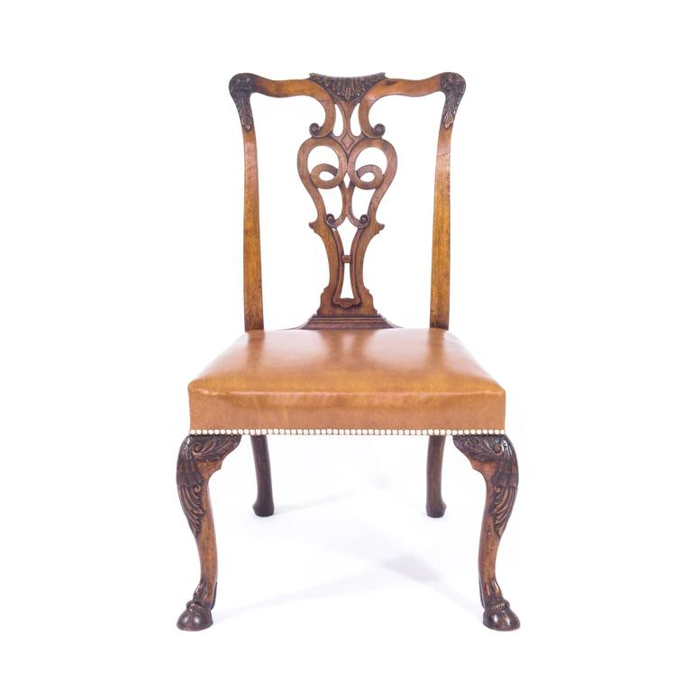 Antique Set of Eight Irish George II Style Dining Chairs, Ex-Viceroy of  India - Antique Set Of Eight Irish George II Style Dining Chairs, Ex