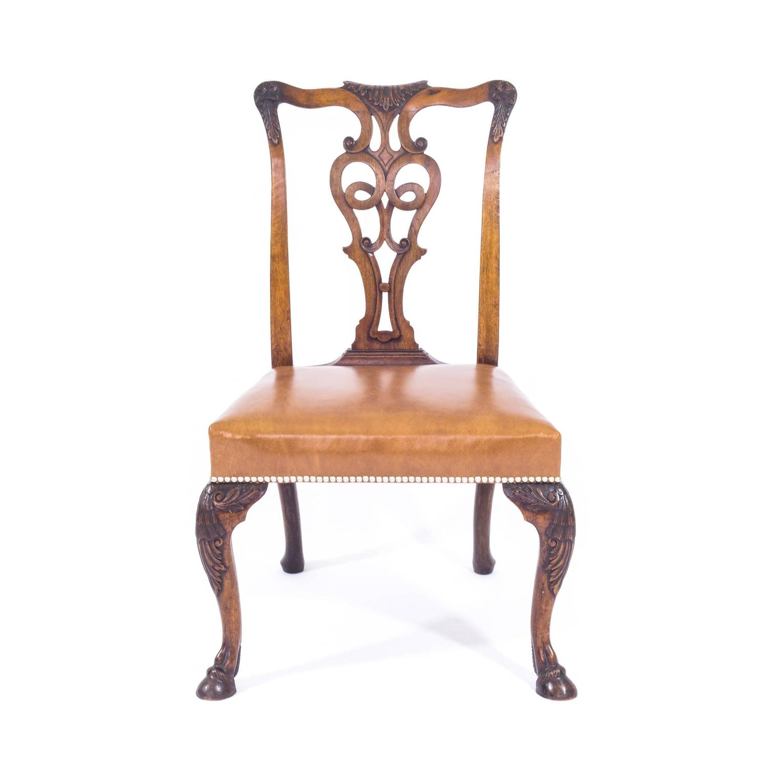 set of eight irish george ii style dining chairs ex viceroy of india