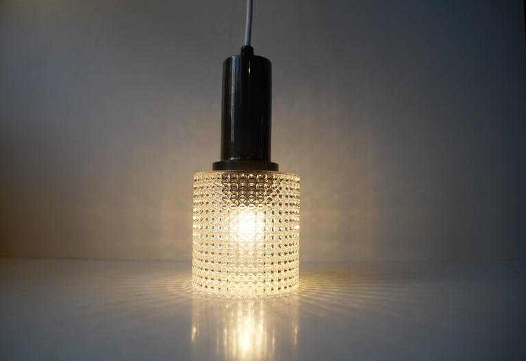 Mid-20th Century Small Mid-Century Pendant Lamp by Carl Fagerlund for Orrefors Sweden, circa 1960 For Sale