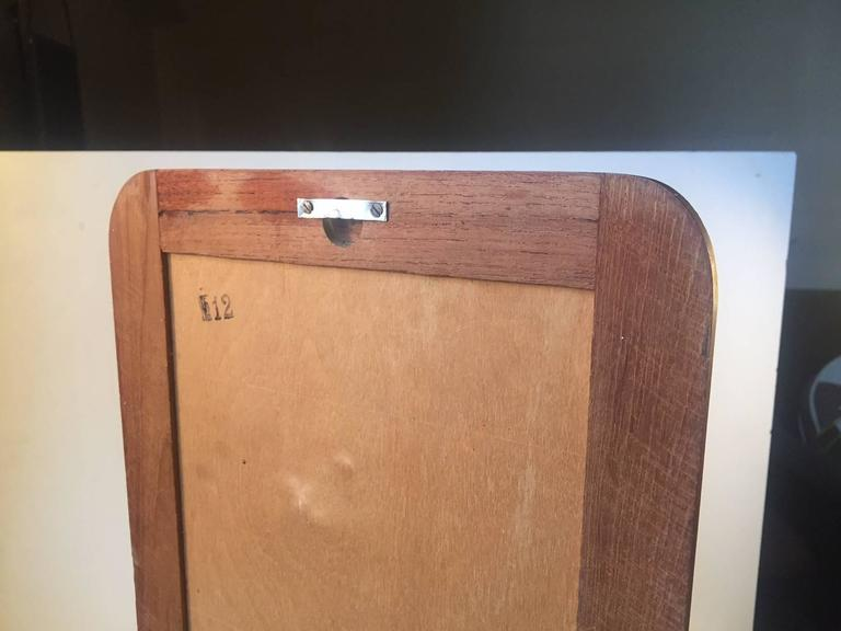 Mid-Century Danish Teak Wall Mirror with Floating Shelf, 1960s In Excellent Condition For Sale In Esbjerg, DK