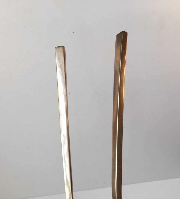 Danish Midcentury Bronze Salad Serving Set by Prince Sigvard Bernadotte, 1950s In Good Condition For Sale In Esbjerg, DK