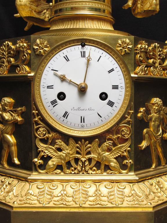 Rare Empire Ormolu Automaton Carousel Clock, Vaillant, Paris, circa 1805 2