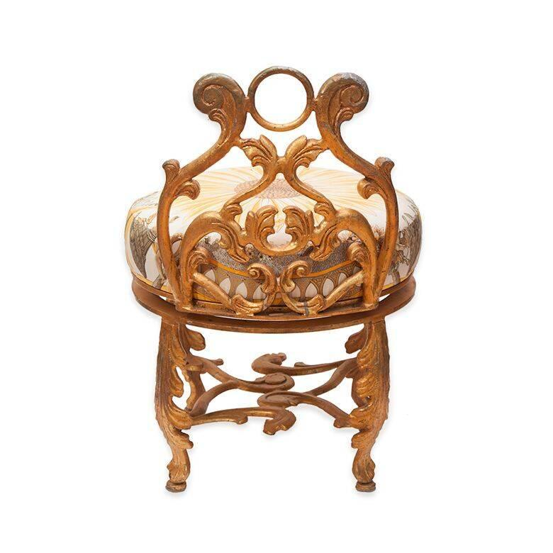 Gold Vanity Chair - Gallery Image Syrinx