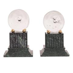 Marble and Glass Bookends