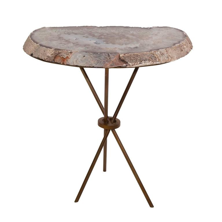 custom geode slab side table for sale at 1stdibs