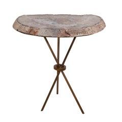 Custom Geode Slab Side Table