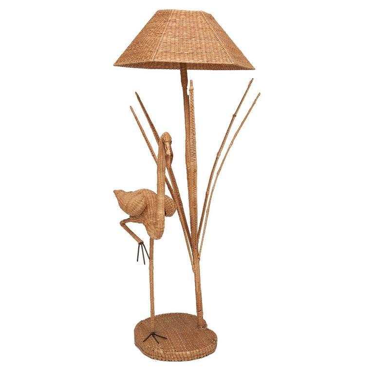 Mario Lopez Torres Flamingo Wicker Floor Lamp with Bronze Accent 1