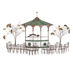 C. Jere Cafe Scene Wall Hanging
