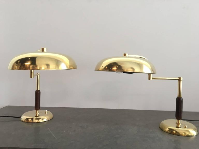 unique pair of french brass and wood table lamps for sale at 1stdibs. Black Bedroom Furniture Sets. Home Design Ideas