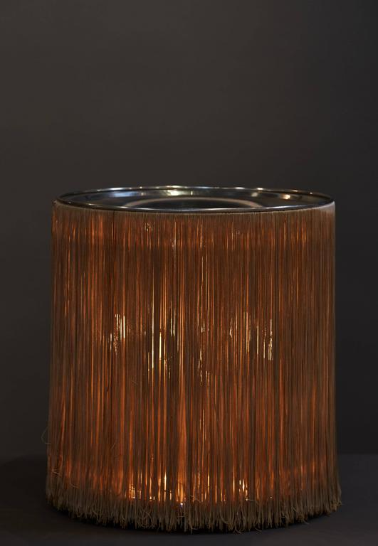 "Dramatic ""597"" Fringed Table Lamp by Gianfranco Frattini for Arteluce 5"