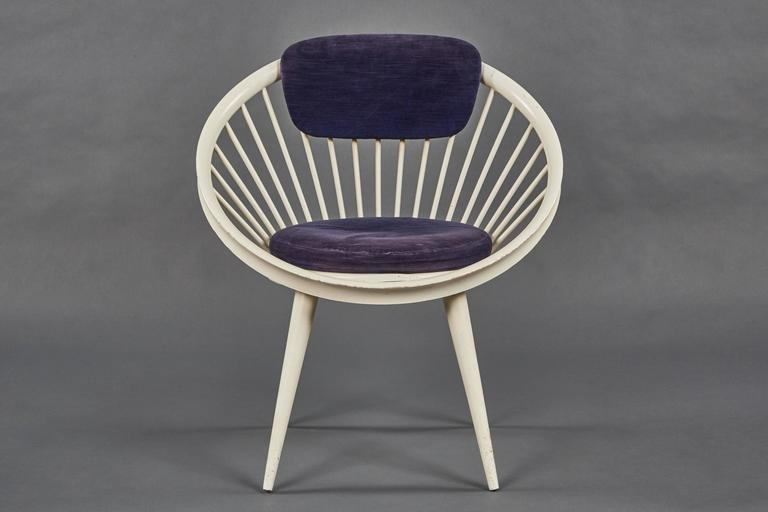 A Rare Pair Of Circular Chairs By Yngve Ekström For Swedese.