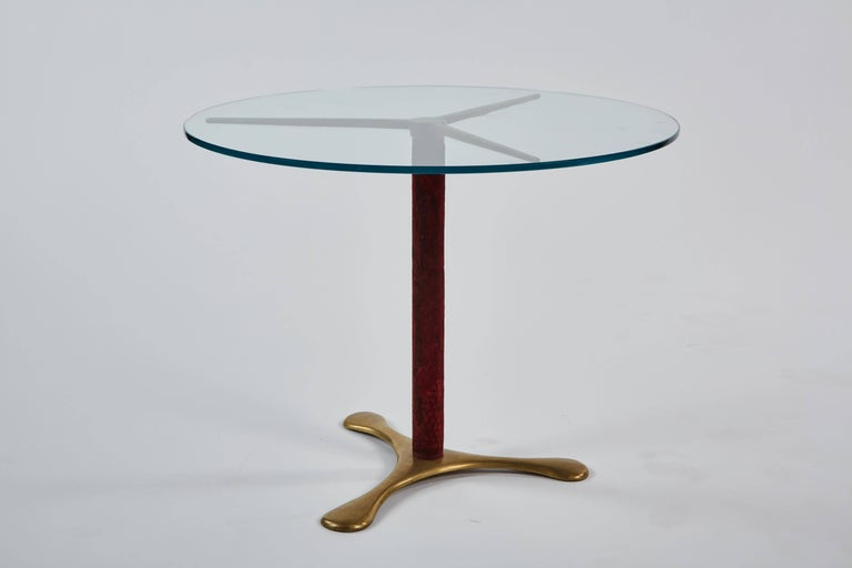 Mid-Century Modern Circular Side Table by Paolo Buffa For Sale