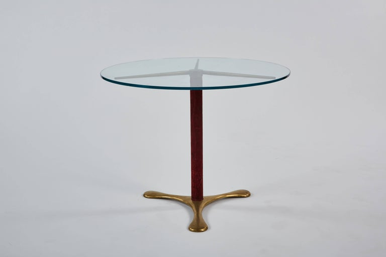 Italian Circular Side Table by Paolo Buffa For Sale