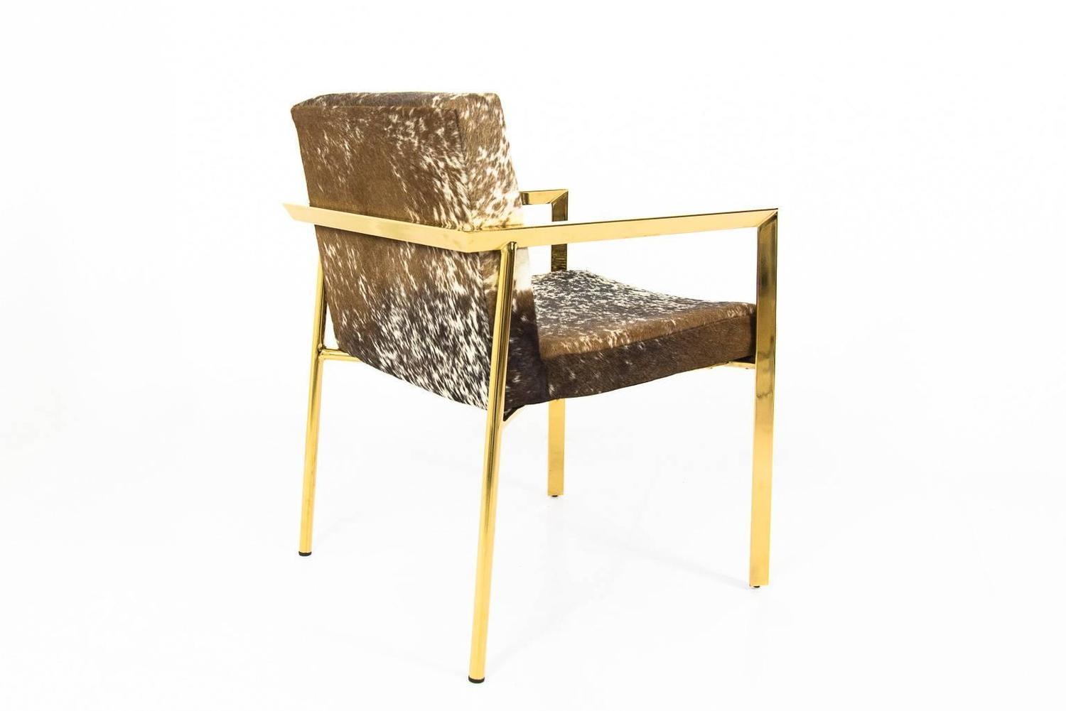 Cowhide Dining Armchair For Sale at 1stdibs