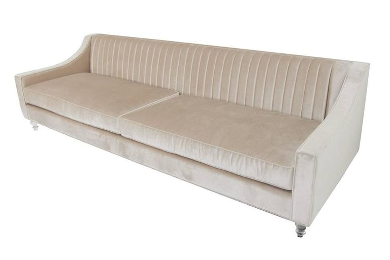 Mod S Audrey Sofa Is Made With Cashmere Velvet Featuring A Gentle Sloping Arm Detail