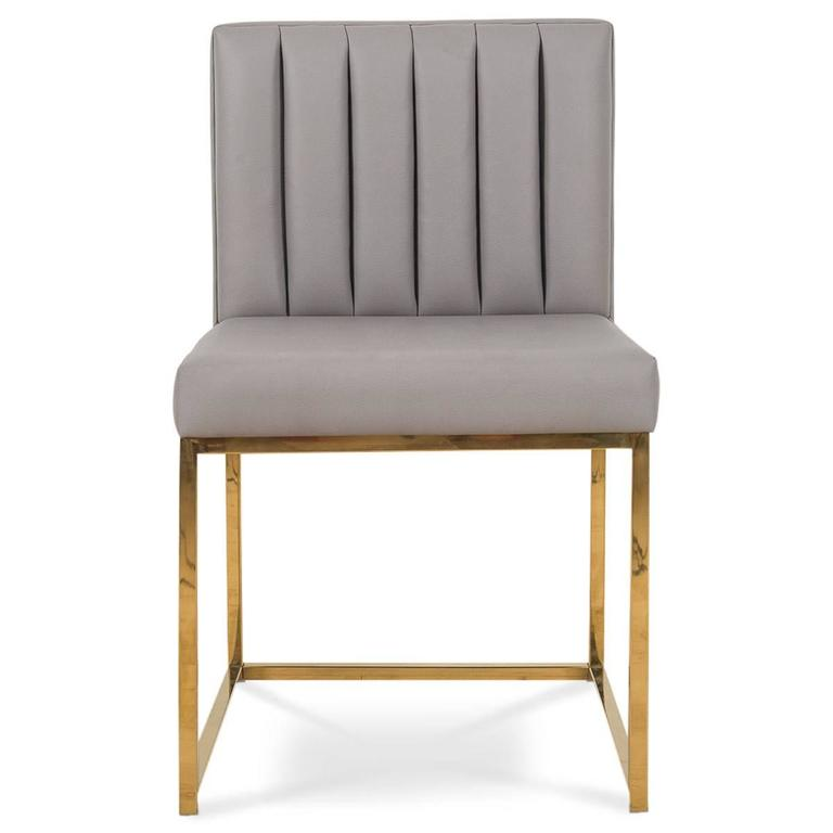 dining chairs faux leather. brass modern dining chair in faux leather with long arm tufting 2 chairs