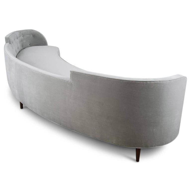 Extra Long Throw Pillows : Mid-Century Style Extra Long Sofa in Grey Velvet w/ Lucite Legs and Throw Pillows For Sale at ...