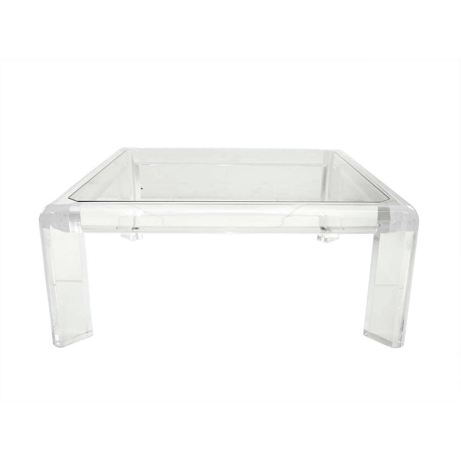 Square Lucite Coffee Table For Sale At 1stdibs
