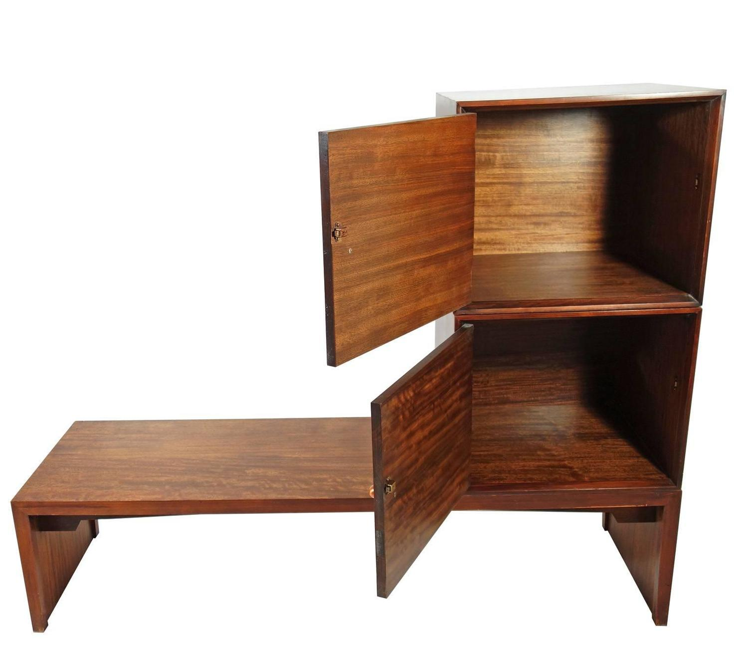 Bench And Two Storage Cubes By Milo Baughman Perspective Line For Drexel For Sale At 1stdibs
