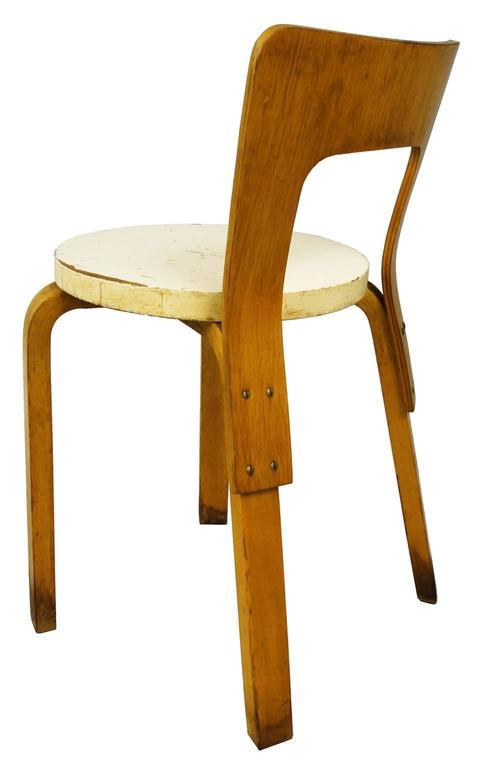 Mid-Century Modern  Early Alvar Aalto Chair / Stool Model 60