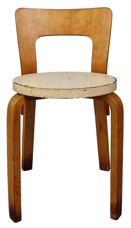 Designed by Alvar Aalto, produced in Sweden by Artek and retailed in the United States by Finsven in New York. Amazing patina and shows beautifully.